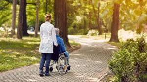 Summer walk with Senior - Home Care